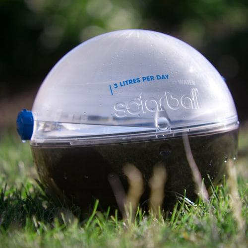 Portable solar device creates potable water