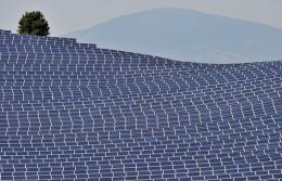 Solar panels are seen in France