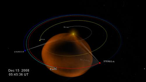 Space storm tracked from sun to earth