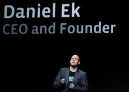 Spotify CEO Daniel Ek, pictured in September