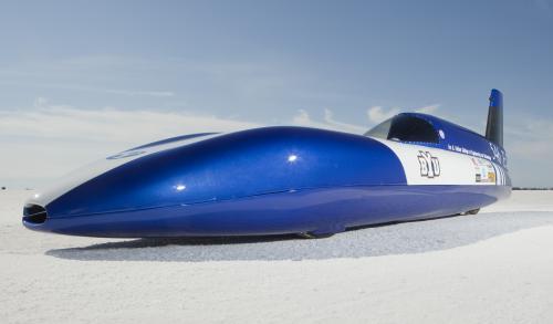 Construido por estudiantes coche eléctrico bate récord de velocidad en tierra en el Salar