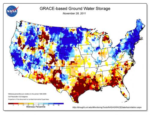 Texas drought visible in new national groundwater maps