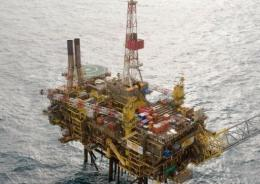 The Gannet Alpha platform in the North Sea