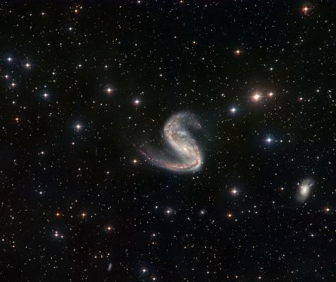 Two views of a lopsided galaxy