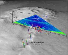 UNH researchers: Multibeam sonar can map undersea gas seeps