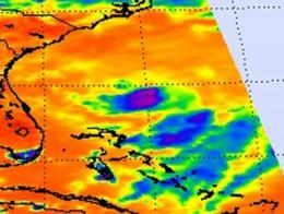 NASA satellites confirm Tropical Storm Bret's heaviest rains on the eastern side