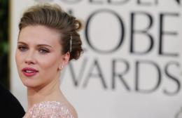 Actress Scarlett Johansson at the 68th annual Golden Globe awards