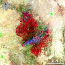 Landsat 5 satellite helps emergency managers fight largest fire in Arizona history