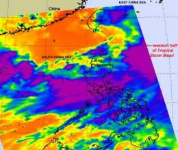 NASA sees Tropical Storm Meari headed for North Korea landfall