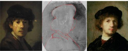 X-ray techniques help art historians verify Rembrandt sketch