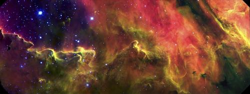 Gemini images a psychedelic stellar nursery