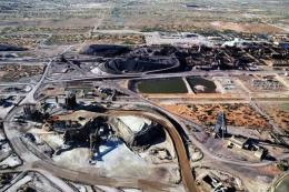 Aerial view of a copper mine in South Australia