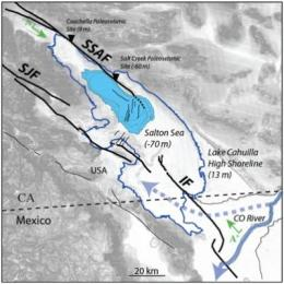 Flooding of ancient Salton Sea linked to San Andreas earthquakes