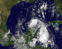 GOES-13 satellite movie shows formation of Tropical Storm Don