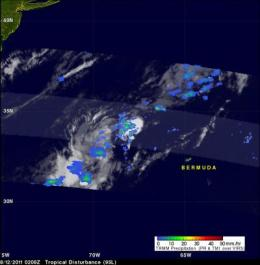 TRMM satellite sees 4 possibilities for the next Atlantic tropical storm