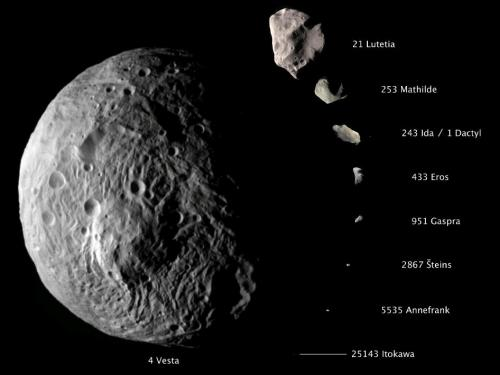 Dawn spacecraft returns close-up image of asteroid Vesta