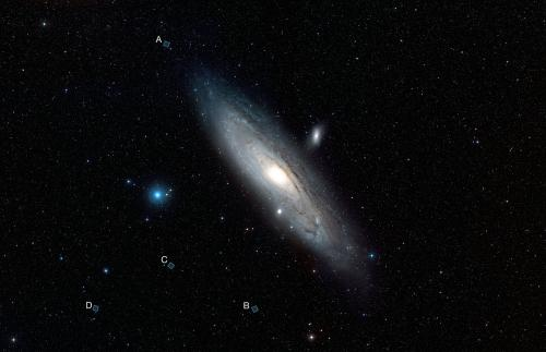 Four unusual views of the Andromeda Galaxy