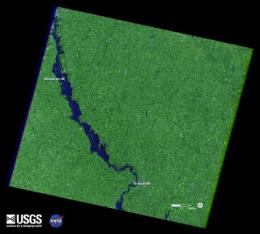 Landsat satellites track continued Missouri River flooding