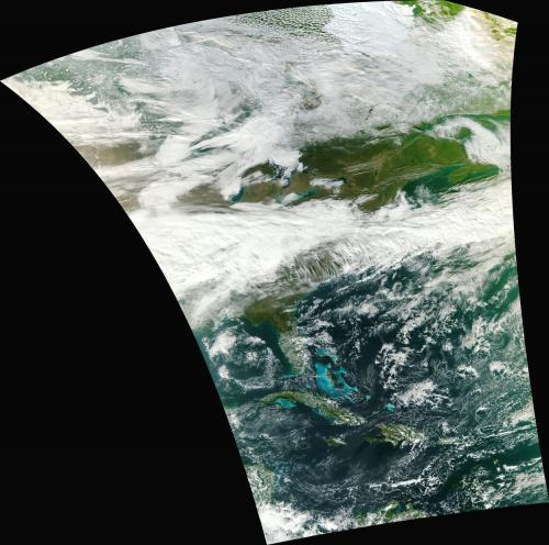 NASA's NPP satellite acquires first VIIRS image