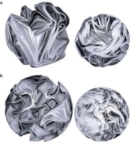 Researchers seek to understand the complexity of crumpled paper balls