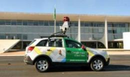 A Google Street View vehicle charts the streets of Brasilia in September