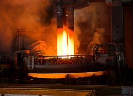 An 'eye' that measures liquid steel temperatures