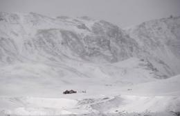 An farm is pictured sitting at the base of the Myrdalsjokull glacier