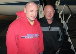 Astronaut twins reunited after 5 months apart (AP)