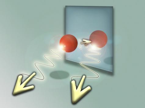 Atom and its quantum mirror image