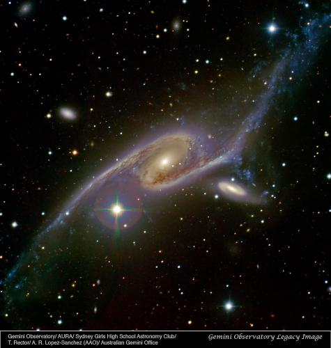Australian students capture dancing galaxies
