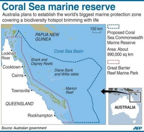 Australia's proposed Coral Sea Commonwealth Marine Reserve