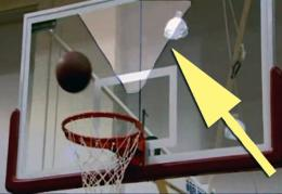 Best 'sweet spots' on the backboard