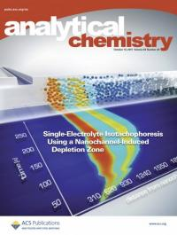 Biomolecule separation at the nanoscale on the cover of Analytical Chemistry