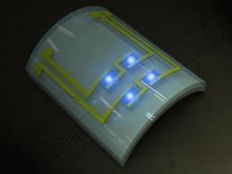 Cancer detection from an implantable, flexible LED