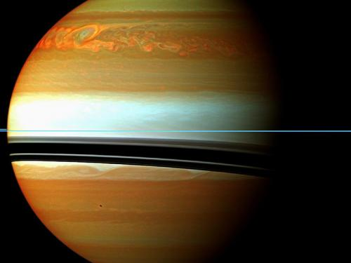 Cassini chronicles life of Saturn's giant storm