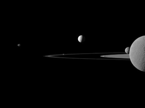 Cassini presents Saturn moon quintet