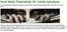 CDC's 'zombie apocalypse' advice an Internet hit (AP)