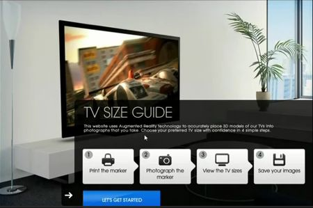 Sony uses Augmented Reality to guide TV buyers