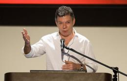 Colombia's President Juan Manuel Santos tweeted that his Facebook page had been hit by the hacker group Anonymous