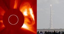 Curiosity and the solar storm