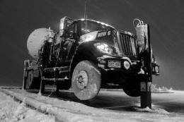 Dashing through the snow, in a one-truck radar dish