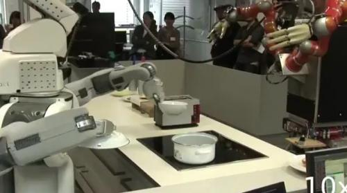 TUM robots 'Kinect' to sandwiches and popcorn