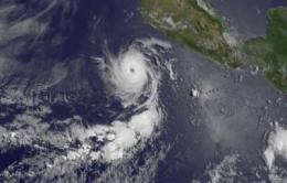 Eye say, Adrian is still a powerful hurricane on NASA satellite imagery