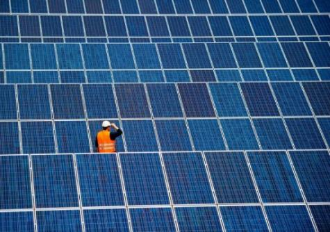 Germany's Chancellor Angela Merkel has vowed to expand cleaner energy forms such as solar power