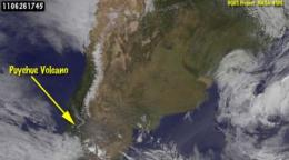 GOES satellites see ash still spewing from Chilean volcano