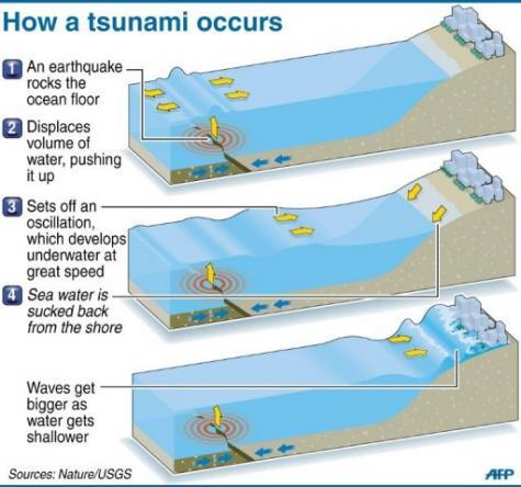 How Tsunami Occurs. How a tsunami occurs