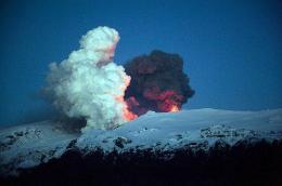 Iceland's Eyjafjoell volcano