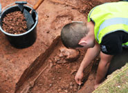 Archaeologists discover skeleton in doctor's garden