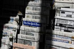 In the US, more digital copies are sold than paper copies of newspapers