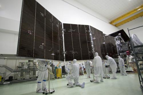Juno solar panels complete testing